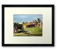 Hay Harvest Tools Framed Print