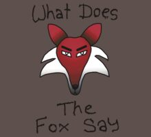 What Does The Fox Say (purple) Baby Tee