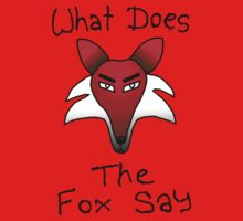 What Does The Fox Say (purple) Kids Tee