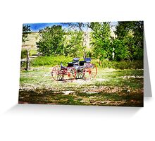 Vintage Buggy Greeting Card