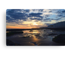 Birling Gap Sunset Canvas Print