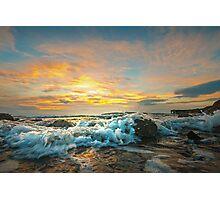 Portencross Frothy Sundown Photographic Print