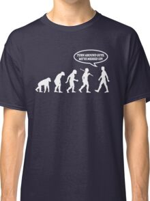 Evolution of Man Messed Up Classic T-Shirt