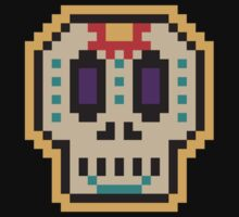 Pixel mexican skull by Moirane