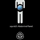 SCP-007 Abdominal Planet (black) by Kirdinn