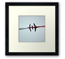 Red Arrows Crossover Framed Print