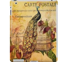 peacock orchid floral vintage botanical art iPad Case/Skin
