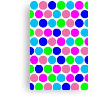 Polka dot, Colors set 4 Canvas Print