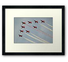 Nine Arrow Roll Framed Print