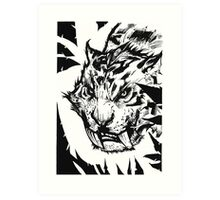 Saber-toothed Art Print