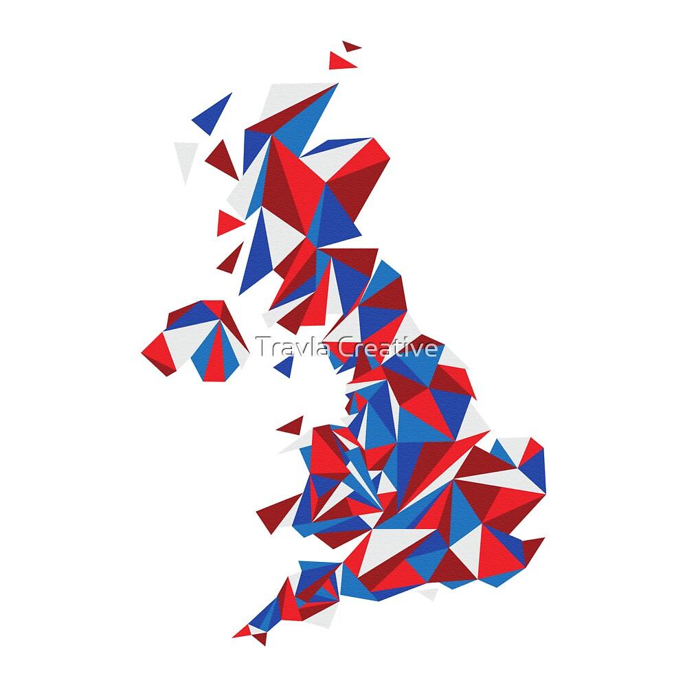 Abstract United Kingdom British Pride by Travla Creative