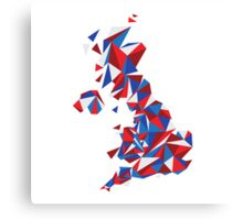 Abstract United Kingdom British Pride Canvas Print