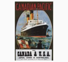 Vintage poster - Canadian Pacific Cruises Baby Tee