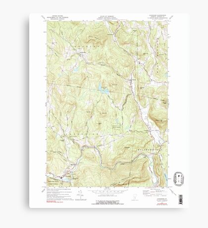 USGS Topo Map  Vermont VT Cavendish 337361 1972 24000 Canvas Print