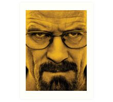 "Breaking Bad - Walter White (Bryan Cranston) ""The One Who Knocks"" Art Print"