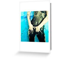 """Paint It Black"" Greeting Card"