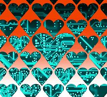 love circuit, cyan by sebmcnulty