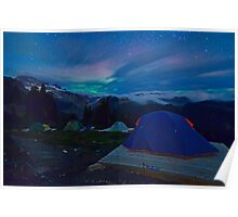 Northern Lights at basecamp Poster