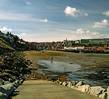 Tate Hill Sands from the Slipway, Whitby by Rod Johnson