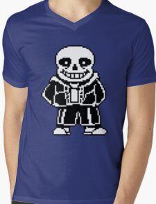Skeleton Mens V-Neck T-Shirt