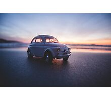 FIAT on the beach at sunset Photographic Print