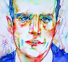 BORIS VIAN - colored pens portrait by lautir