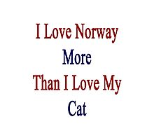 I Love Norway More Than I Love My Cat  Photographic Print