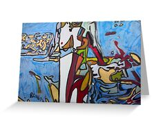 'Abstract Nude Sitting' Greeting Card