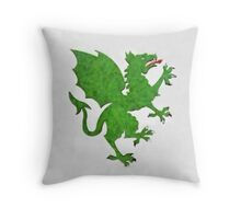 Green Dragon by Pierre Blanchard Throw Pillow