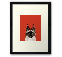 Reindeer Costume for cat cute gift idea for office party cat person in your life Framed Print