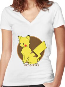 Pikachu Kit.Series Women's Fitted V-Neck T-Shirt