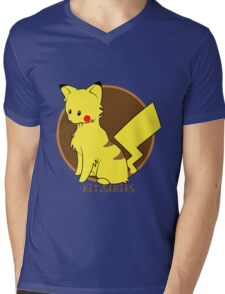 Pikachu Kit.Series Mens V-Neck T-Shirt