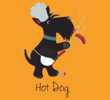 Scottie Dog, Hot Dog by BonniePortraits