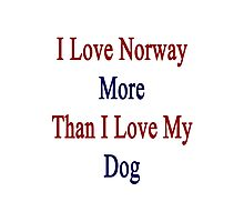 I Love Norway More Than I Love My Dog  Photographic Print