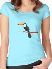 Origami Toucan Women's Fitted Scoop T-Shirt