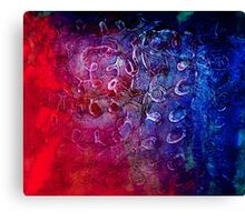 PVA blue Canvas Print