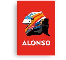 Fernando Alonso 2013 Season Helmet  Canvas Print