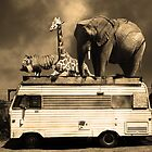 Barnum and Baileys Fabulous Road Trip Vacation Across The USA Circa 2013 5D22705 sepia with text by Wingsdomain Art and Photography