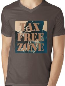 ' Tax Free Zone ' Mens V-Neck T-Shirt