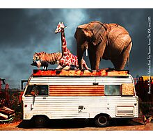 Barnum and Baileys Fabulous Road Trip Vacation Across The USA Circa 2013 5D22705 with text Photographic Print