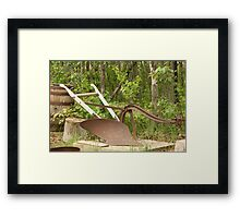 Antique One Share Plow Framed Print
