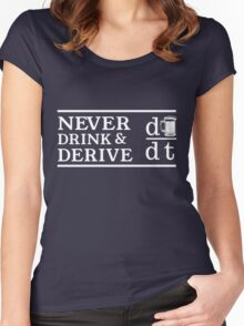 Never drink and derive Women's Fitted Scoop T-Shirt