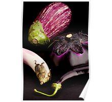Purple Eggplants Poster