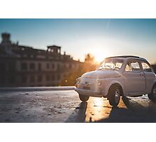 FIAT on the steps at Rome Photographic Print