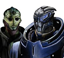 Mass Effect - Thane and Garrus by SessaV