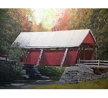 """The """" Campbell Covered Bridge"""" Photographic Print"""