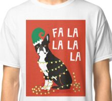 Cute Dog Christmas Gift santa pug boston terrier Classic T-Shirt