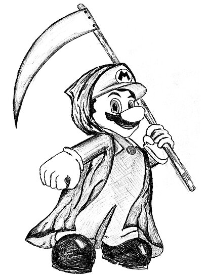 Mario the Grim Reaper by GingerNutDesign