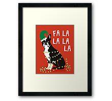 Cute Dog Christmas Gift santa pug boston terrier Framed Print