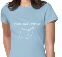 Read Nap Repeat Womens Fitted T-Shirt